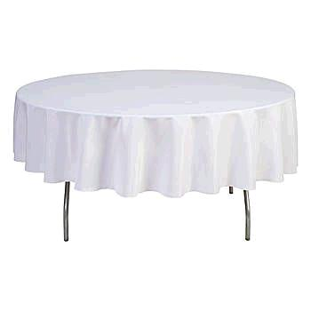 Where to find TABLECLOTH, 78  RND  WHT in Eunice