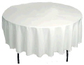 Where to rent TABLECLOTH, 90  RND  WHITE in Opelousas  LA