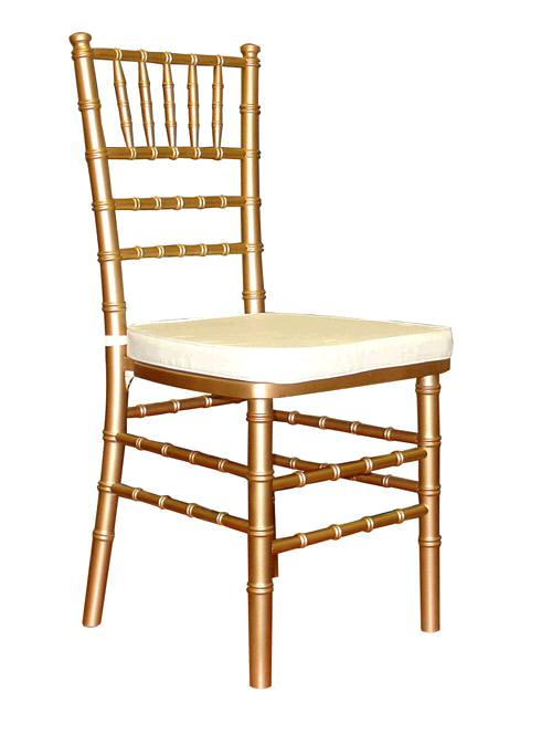 Where to find CHAIR, GOLD  IVORY PADDING in Eunice